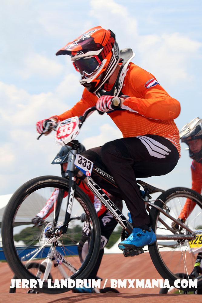 Ricardo Hogenboom in actie tijdens de Worlds 2017 in RockHill North-Carolina